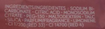 Cube de Bain énergisant Framboise Menthe poivrée - Ingredients - fr