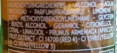 Brume Parfumée énergisante - Ingredients - fr