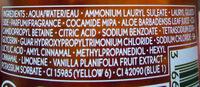 Bain douche sensuel vanille bourbon - Ingrédients - fr