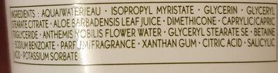 Creme mains hydratante - Ingrédients - fr