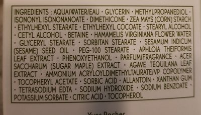 Hydro végétal gel crème hydratation intense - Ingrédients - fr