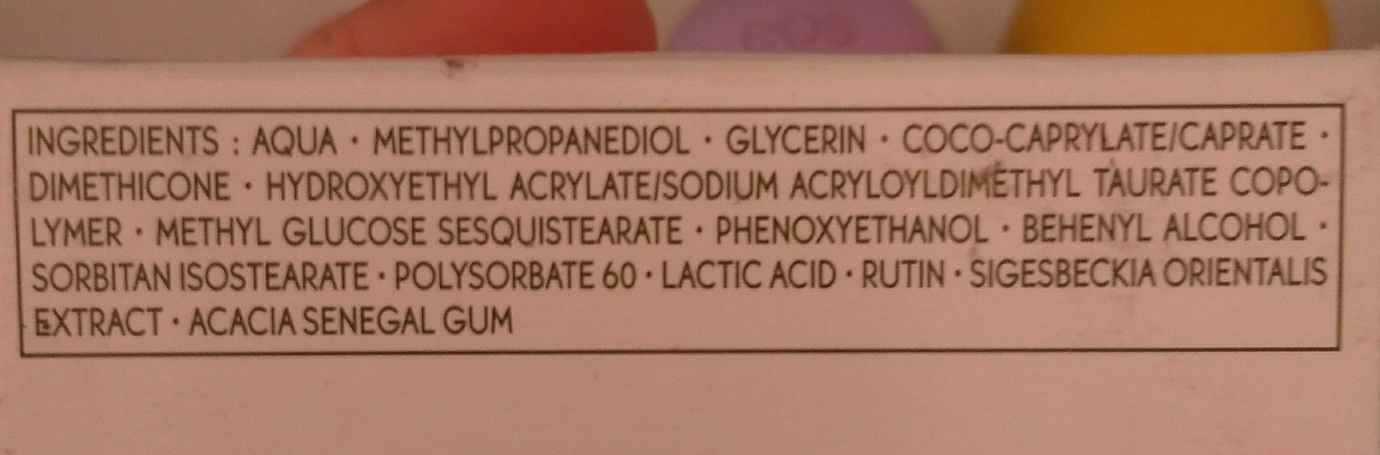 Sensitive Vegetal Creme - Ingredients - fr