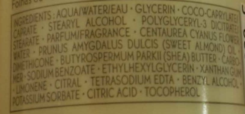 Feuilles de verveine - Ingredients