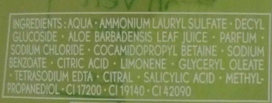 Jardins du Monde Gel douche fraicheur Citron Vert du Mexique - Ingredients - fr