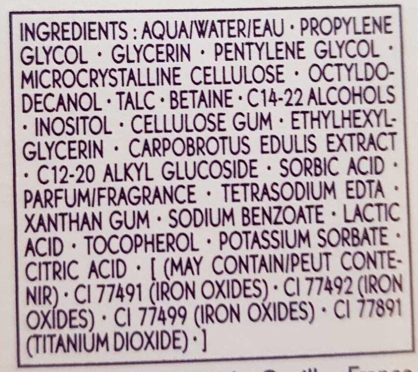 Pure light - Nude de teint hydratant - Ingredients