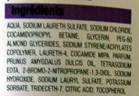 Crème lavante à l'huile d'amande douce - Ingredients