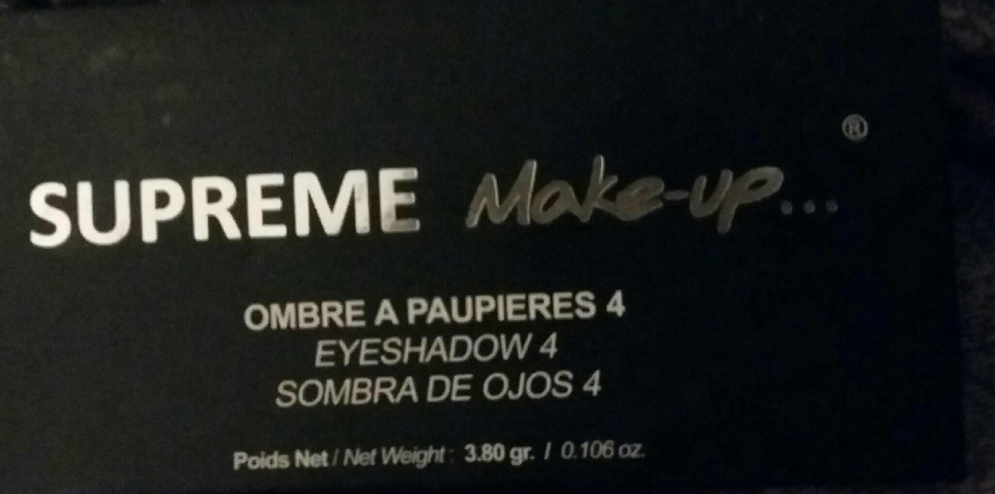 Ombre à paupières Supreme Make Up - Produit