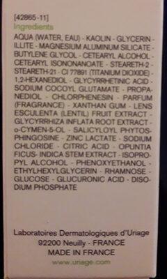 Uriage  Hyséac masque purifiant - Ingredients - fr