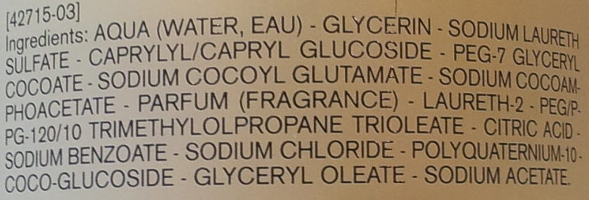 Huile lavante peaux sensibles - Ingrédients - fr