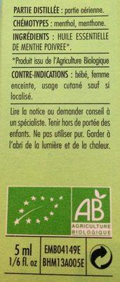 Menthe Poivrée - Ingredients - fr