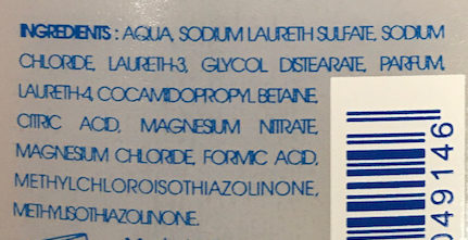 Shampooing douche gel micellaire - Ingredients