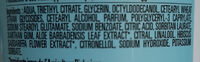 Déodorant Bille Aloe Vera - Ingredients