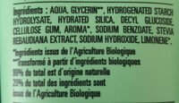 Dentifrice sans fluor - Ingrédients - fr