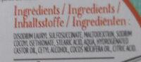 Shampoing solide Noix de coco cheveux sec - Ingredients