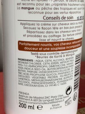 Soin sans rinçage - Ingredients - fr