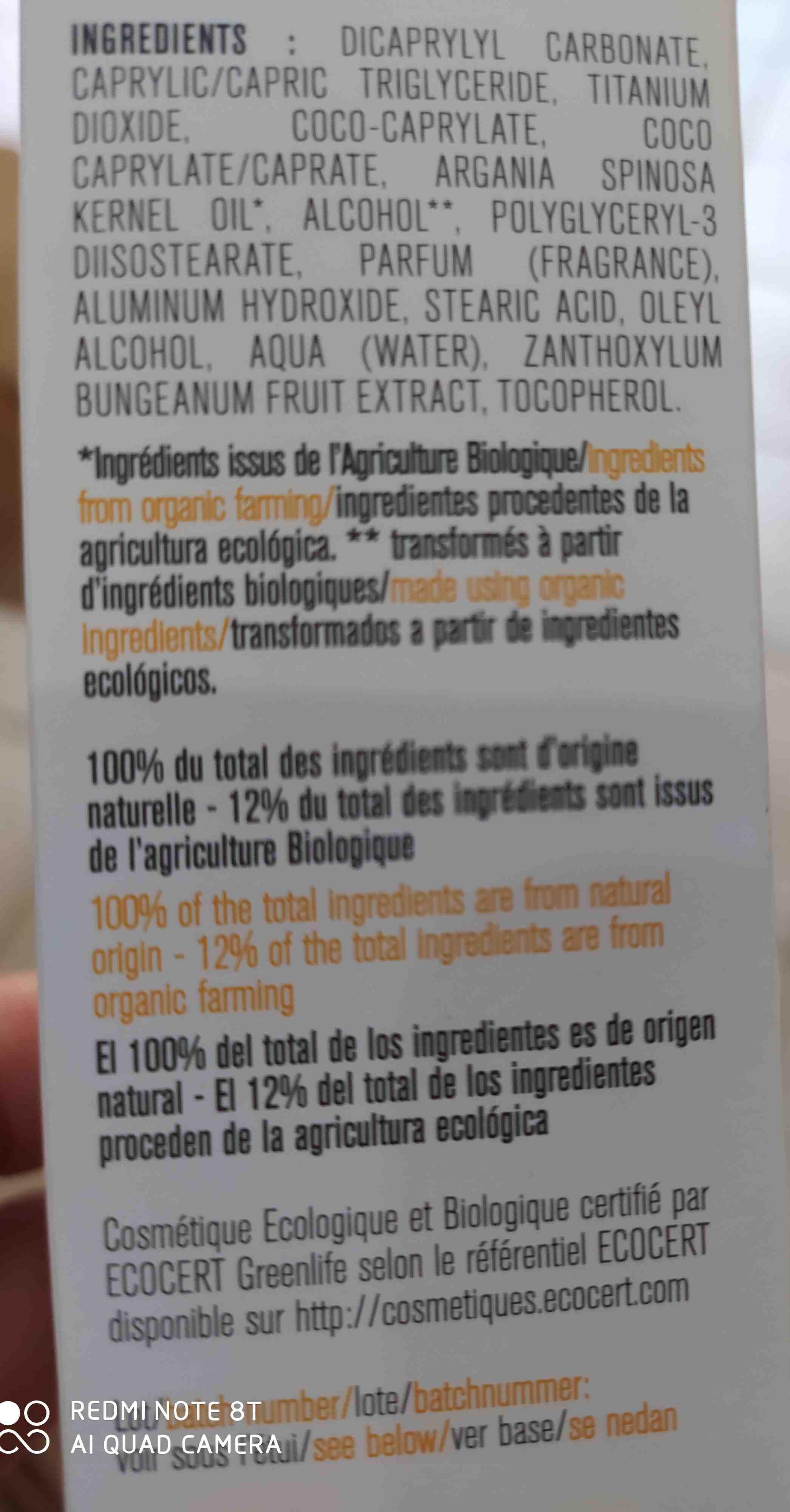 bioregena proteccion solar - Ingredients - en