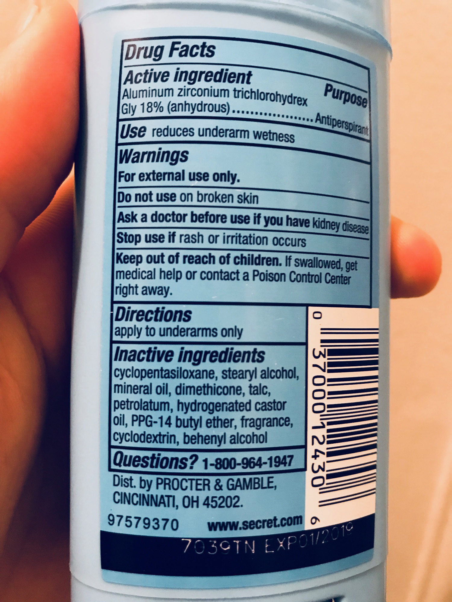Invisible Solid - Ingredients - fr