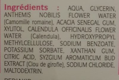 Gel de soin premières dents - Ingredients - fr