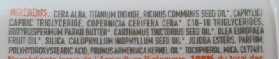 Stick Solaire - Ingredients