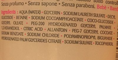 Gel nettoyant surgras - Ingredients