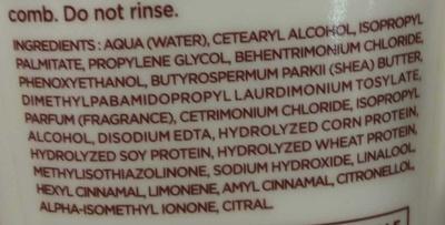 Hydra-Intense Crème de coiffage - Ingredients - fr