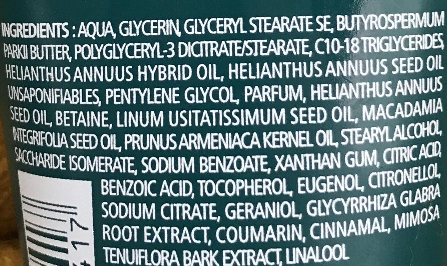 Crème Mains Réparation Forte - Ingrédients
