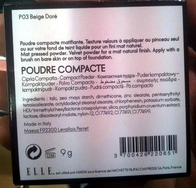 Poudre compacte P03 beige doré - Product