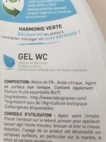 gel WC harmonie verte - Ingredients - fr