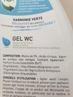 gel WC harmonie verte - Ingrédients - fr