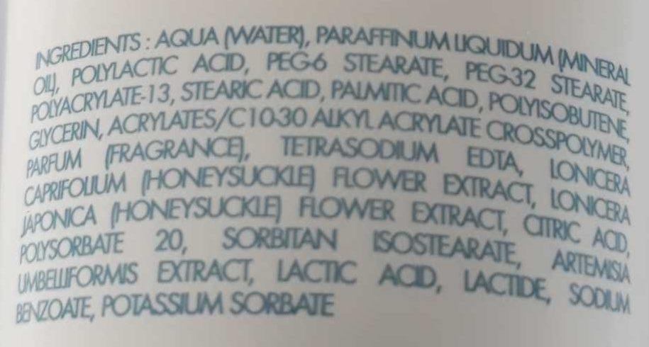 Exfoliant douceur - Ingredients