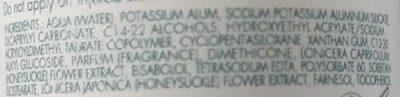 Déodorant à la pierre d'alun - Ingredients