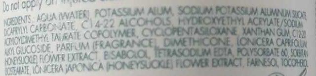 Déodorant à la pierre d'alun - Ingredients - fr