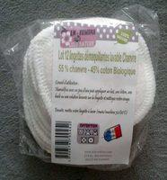 Lot 12 lingettes démaquillantes lavable Chanvre - Product