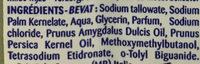 Pêche Amande Douce savon glycériné - Ingredients
