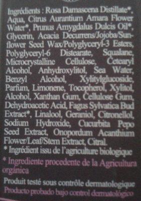 Ylae crème de jour hydratante - Ingredients