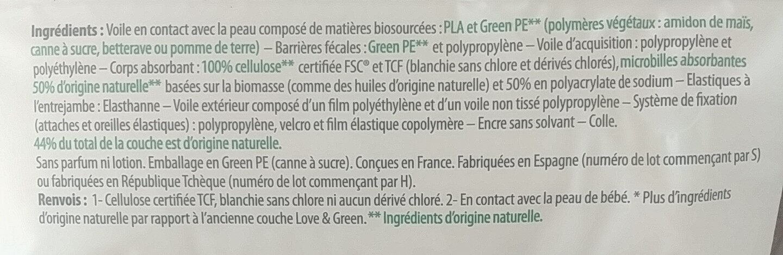 love & green - Ingredients - fr