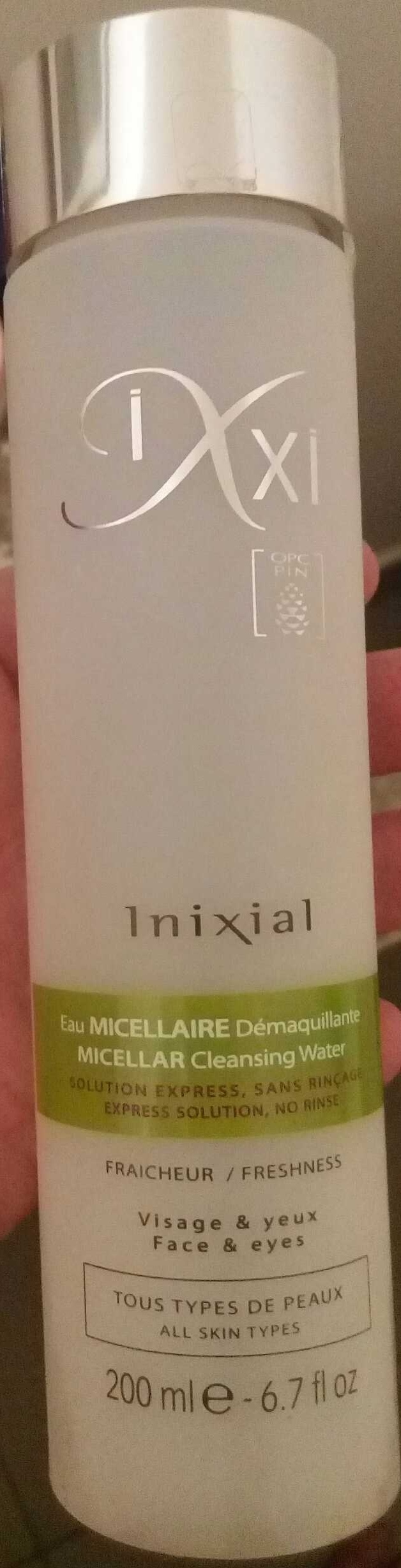 Inixial eau micellaire démaquillante - Produit