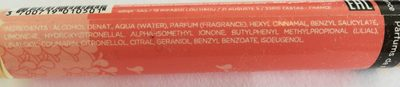 Parfum framboise fleur d'oranger - Ingredients - fr