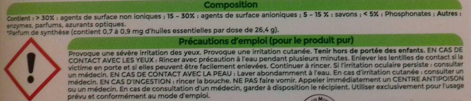 LESSIVE HYPOALLERGÉNIQUE - Ингредиенты - fr