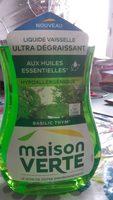 Liquide vaisselle ultra dégraissant aux huiles essentielles - Product - fr