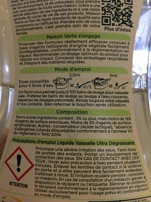 Vaisselle main 0% - Ingredients - fr