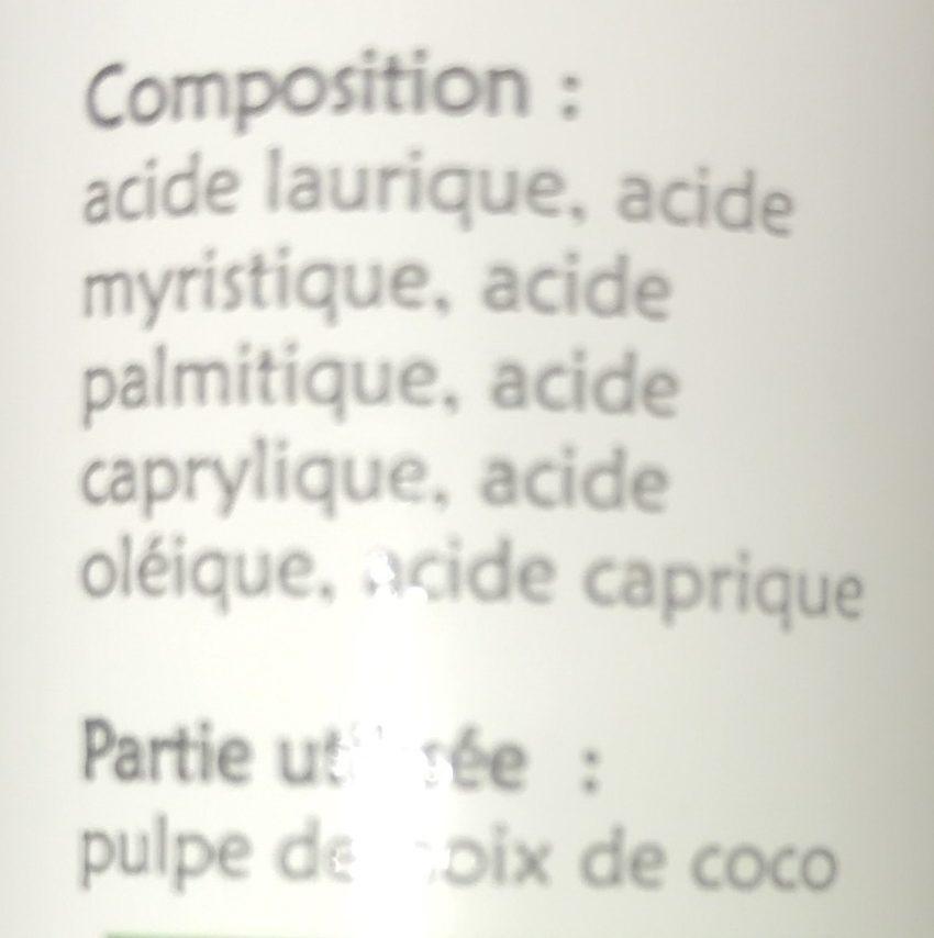 Huile Vierge Bio de Coco - Ingredients - fr