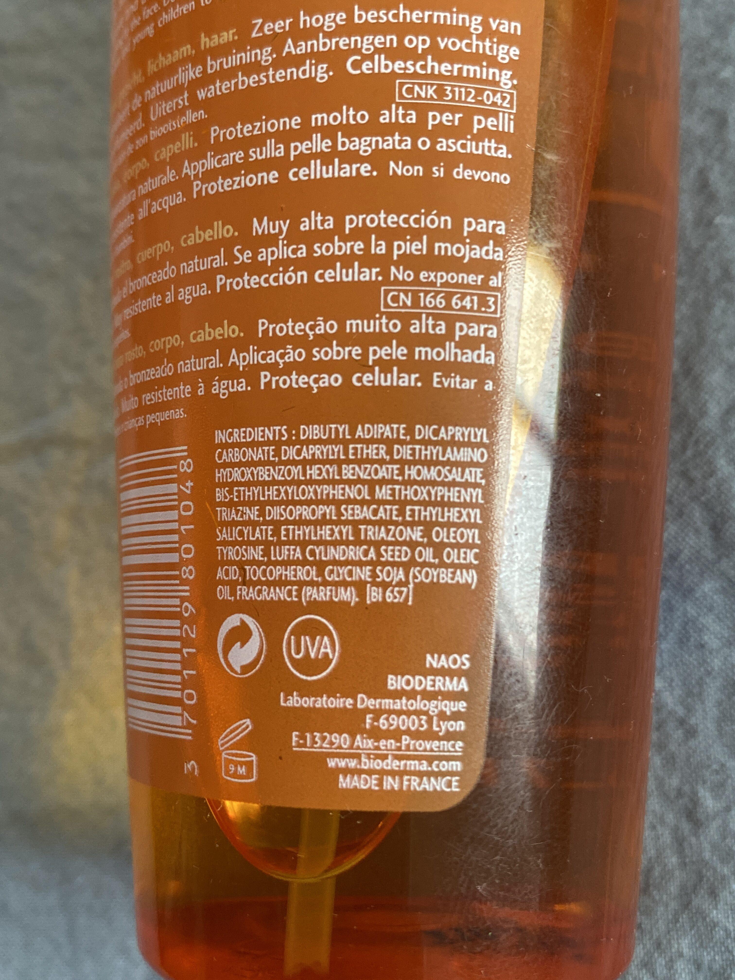 Photoderm bronz spf 50+ - Ingredients - fr