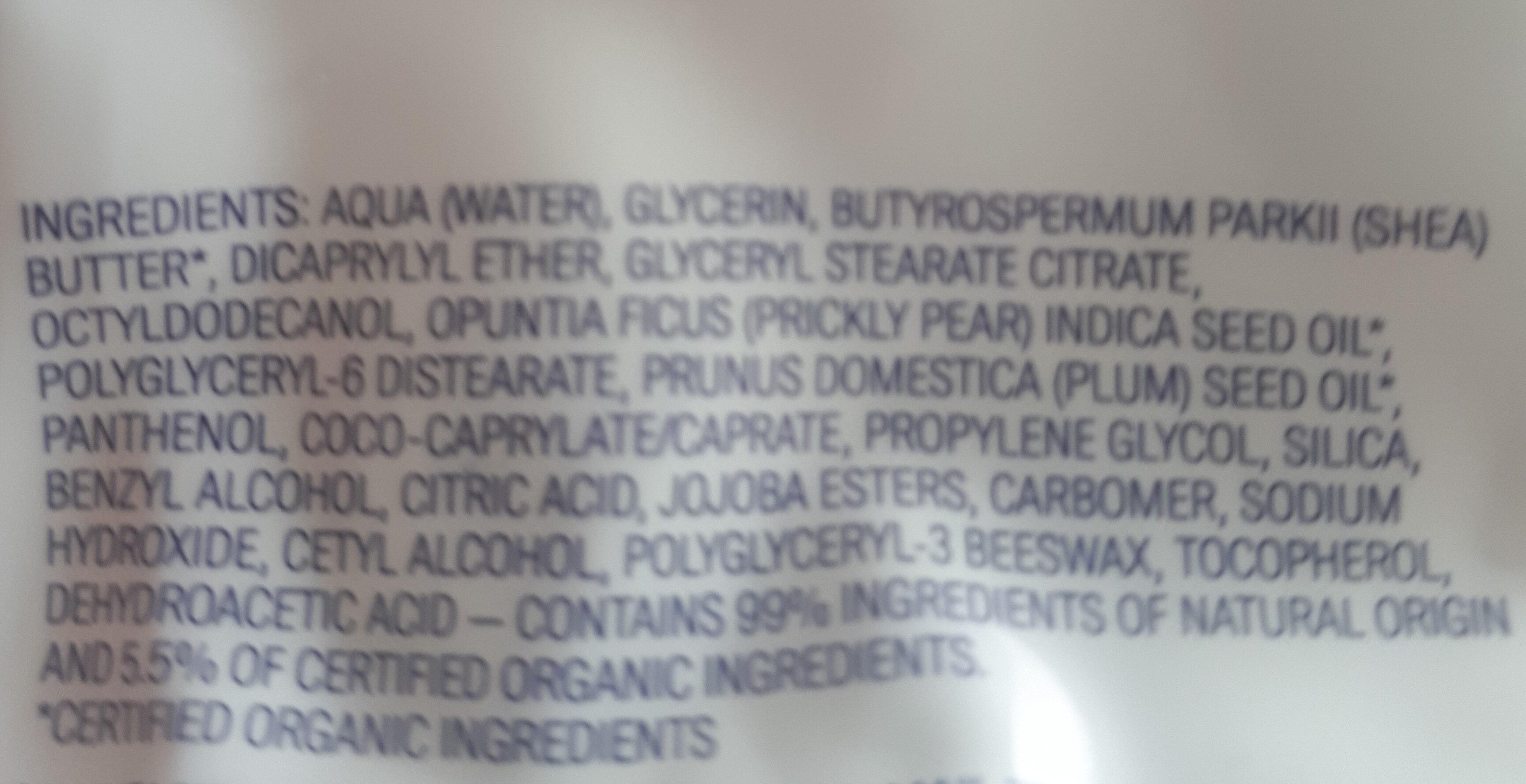 Hydratant visage matifiant - Ingrédients - fr