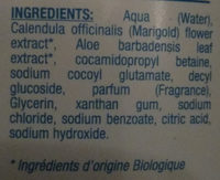 gel lavant ultra-doux - Ingredients