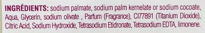 Savon naturel parfumé à l'huile d'olive - Ingredients