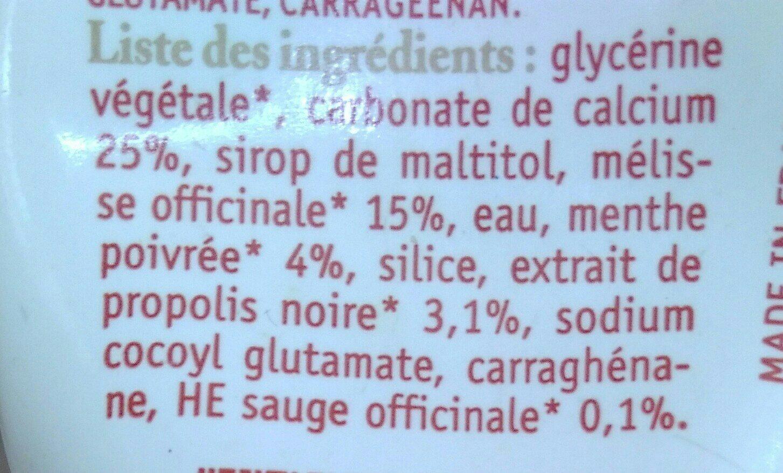 Dentifrice Sourire - 50 ML - Ballot-flurin - Ingredients