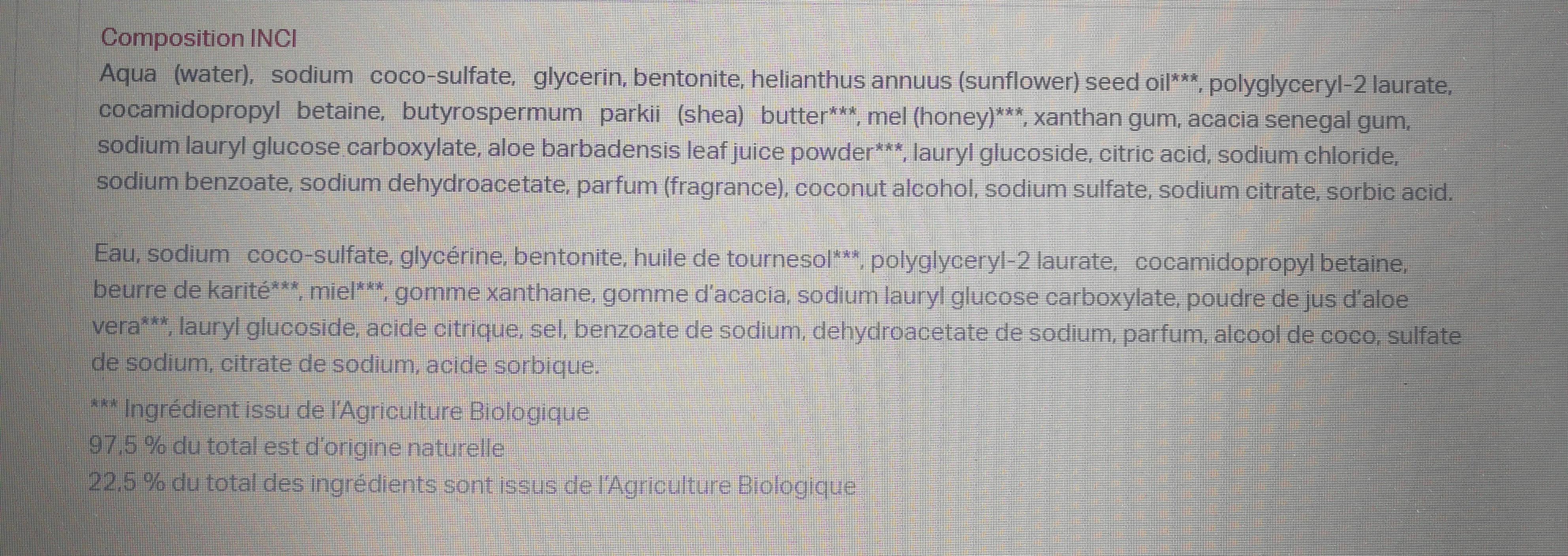 douche hypoallergenique surgras dans savon - Ingredients - fr