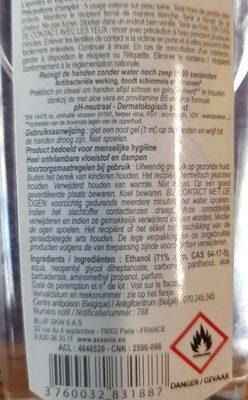 Assanis Pocket Gel Main Parfum Coco Vanille - Ingredients - fr