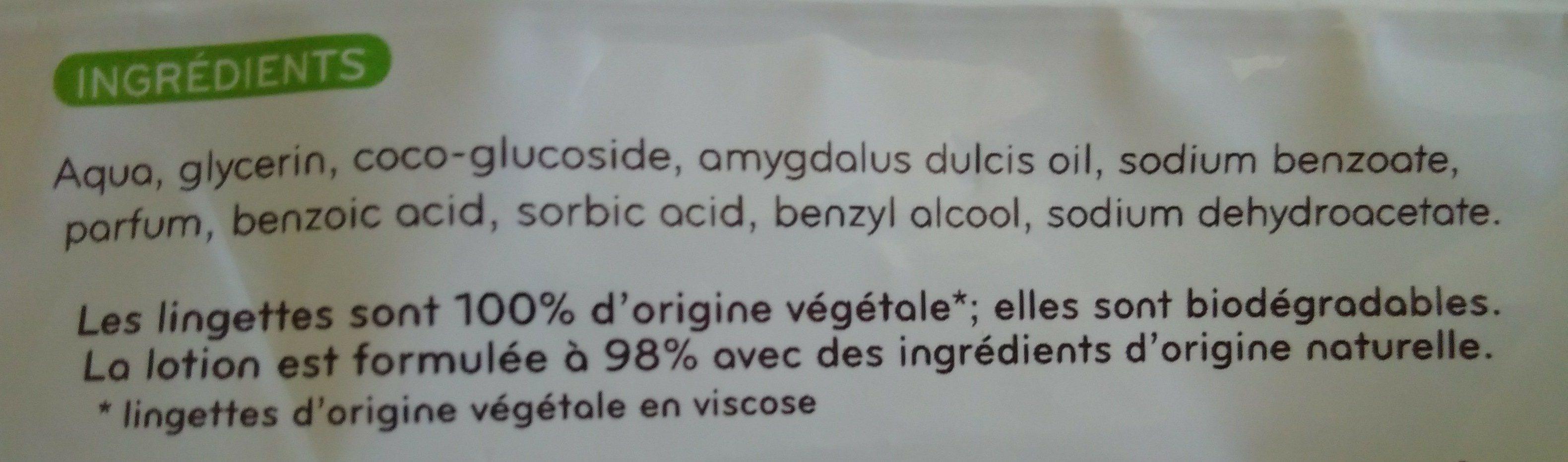 Lingettes épaisses extra douces - Ingrédients - fr